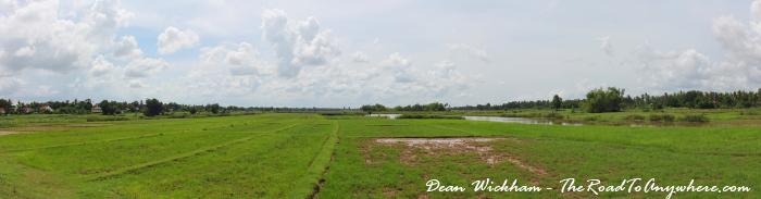 Farmland on Koh Trong in Cambodia