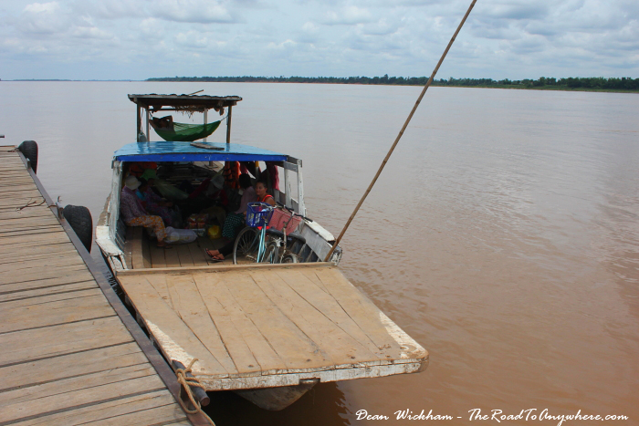 Ferry on the Mekong River in Kratie, Cambodia