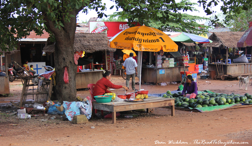 Road side stalls near Siem Reap, Cambodia