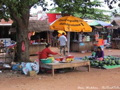 Road side stalls near Siem Reap, Cambodia