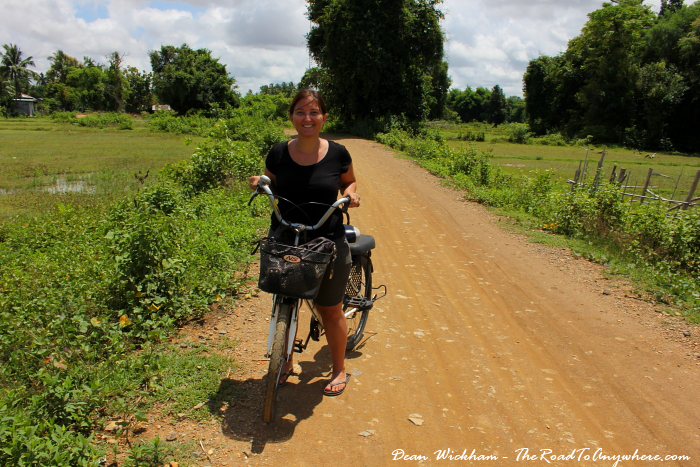 Cycling on Don Khone, Laos
