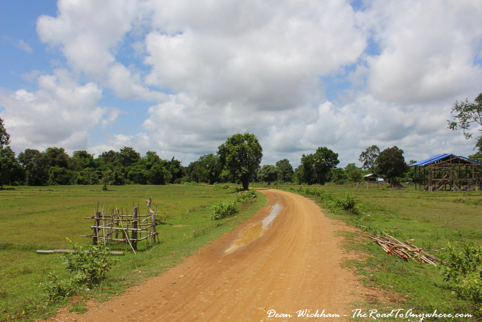 Dirt road on Don Khone, Laos