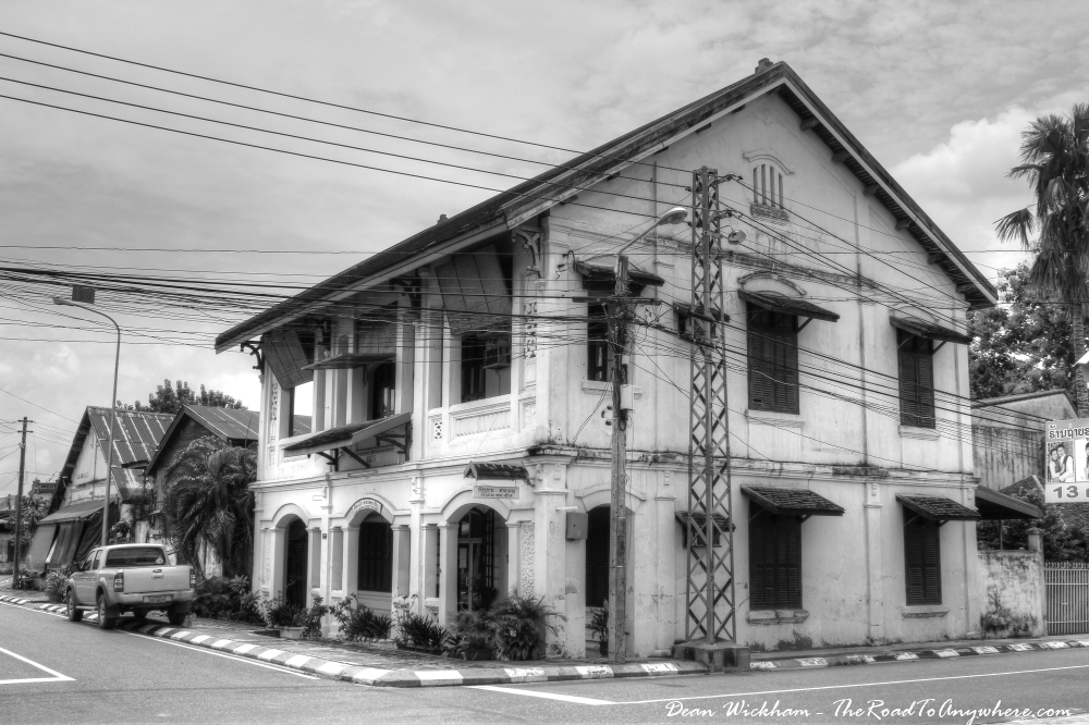 And old guesthouse in Savannakhet, Laos