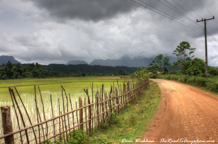 Rural road in Vang Vieng, Laos