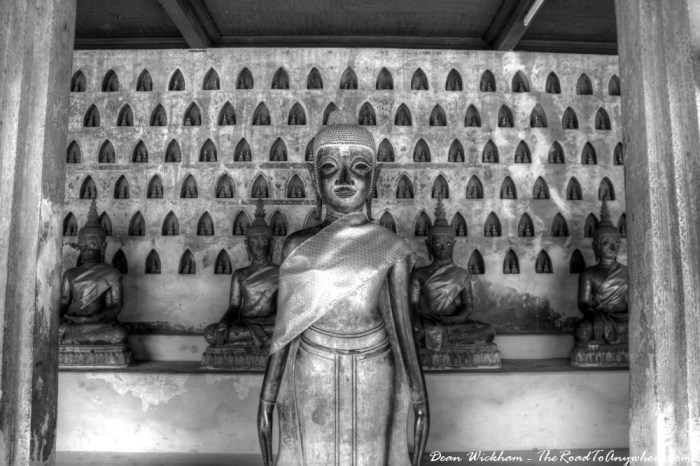Buddha statues at Wat Sisaket, Vientiane