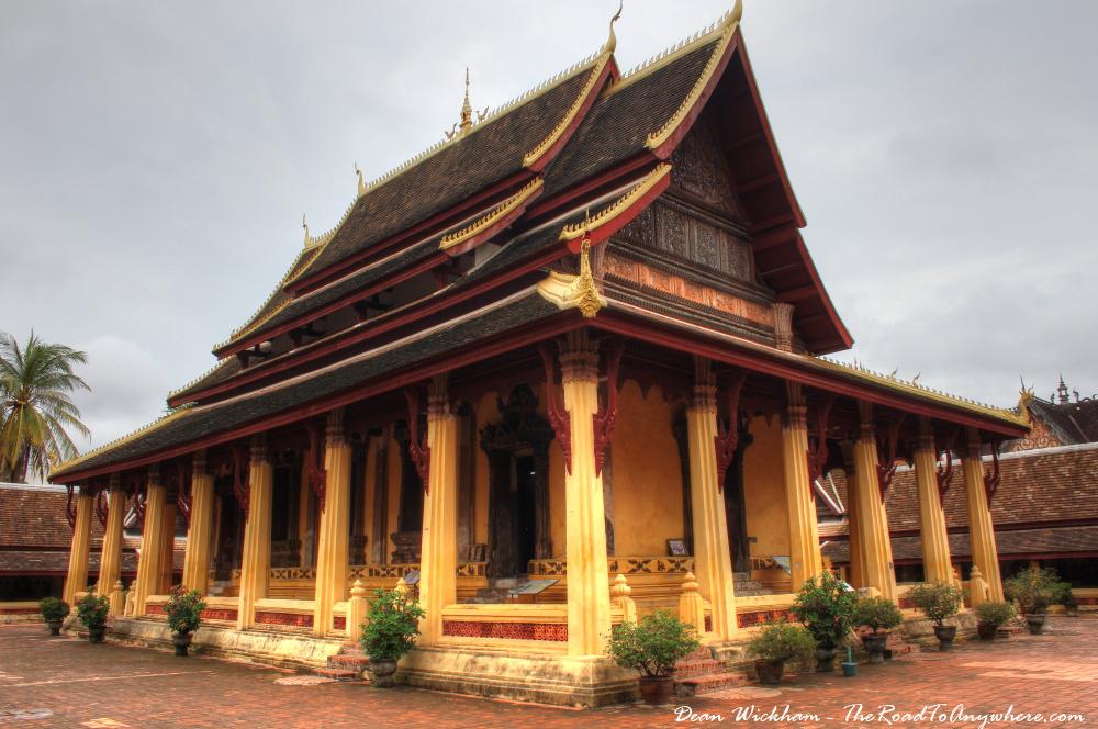 Viharn at Wat Sisaket in Vientiane, Laos