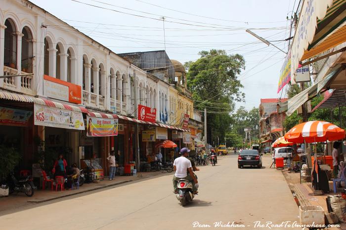 Street in Kratie, Cambodia