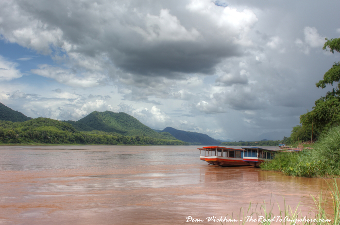 The Mekong River in Luang Prabang, Laos