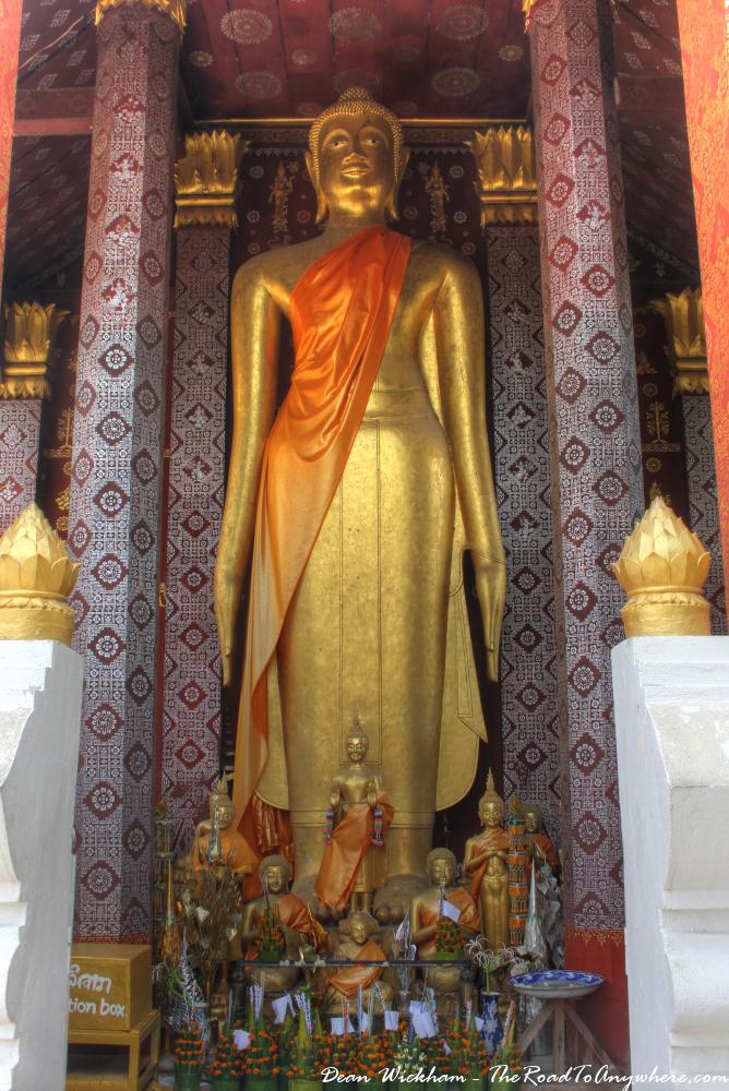 Standing Buddha at Wat Sensoukharam in Luang Prabang, Laos