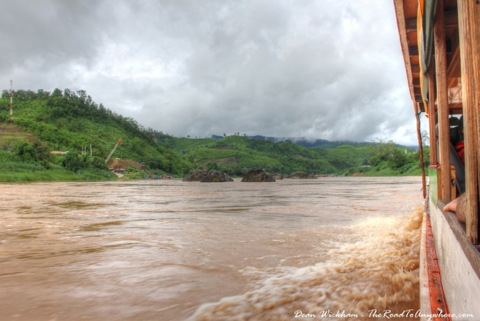 Slow Boat on the Mekong River, Laos