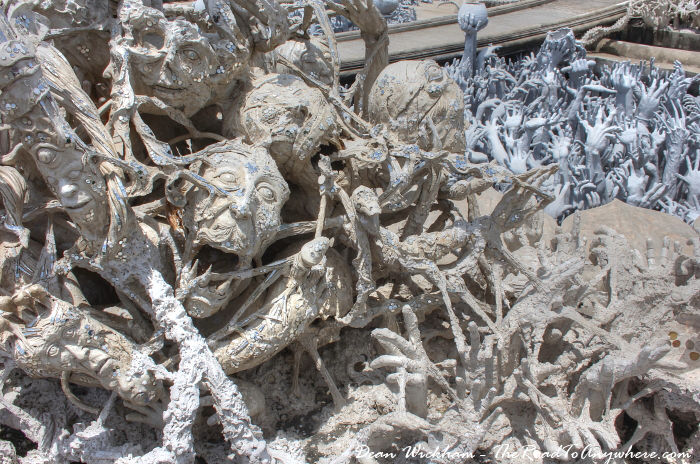 Demons at Wat Rong Khun (The White Temple) in Chiang Rai, Thailand