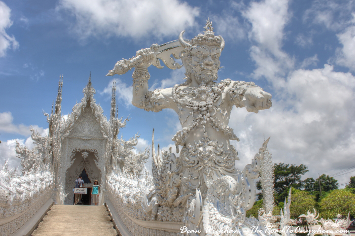 Guardian at Wat Rong Khun (The White Temple) in Chiang Rai, Thailand