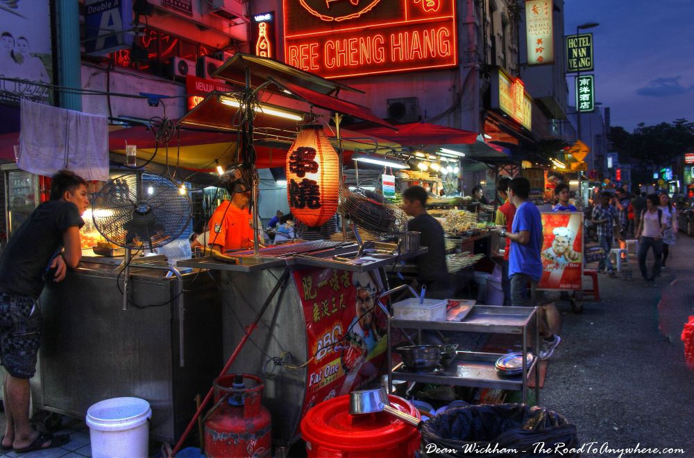Chinatown Hawker Stalls in Kuala Lumpur, Malaysia