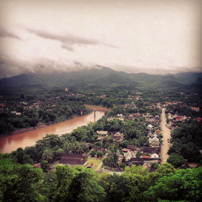 View of Luang Prabang from Phu Si, Laos