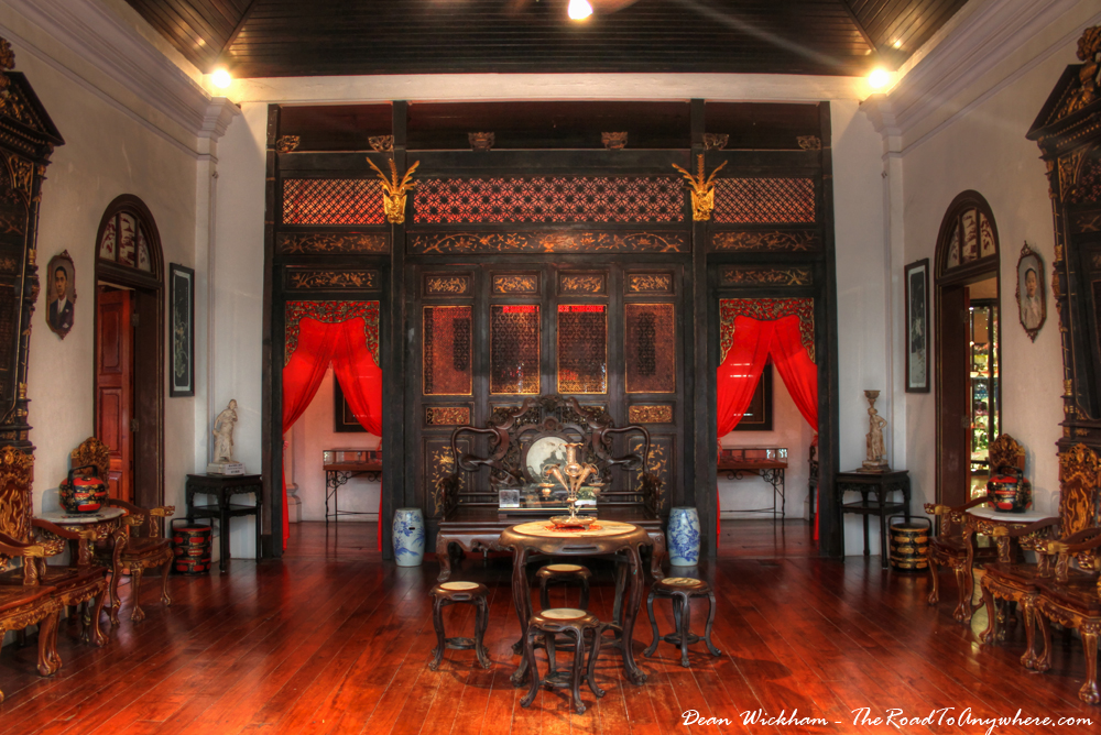 Second floor sitting room in Pinang Peranakan Mansion in George Town, Malaysia