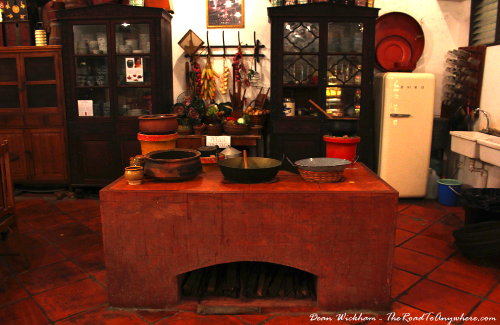 Kitchen in Pinang Peranakan Mansion in George Town, Malaysia