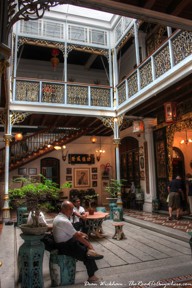 Courtyard in Pinang Peranakan Mansion in George Town, Malaysia