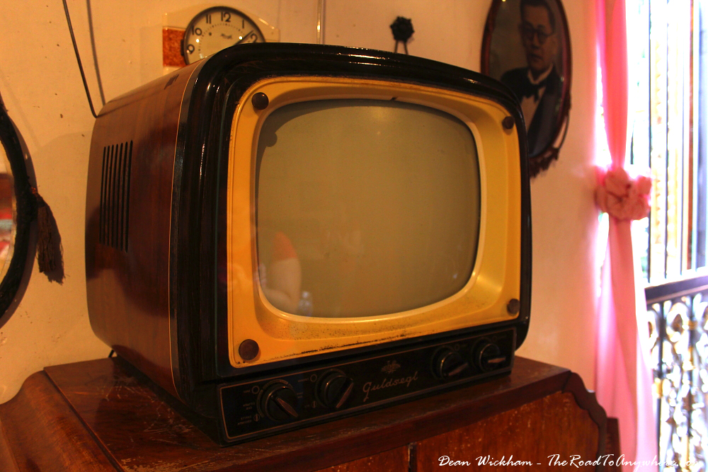 Old TV in Pinang Peranakan Mansion in George Town, Malaysia