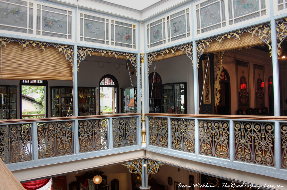 Second floor courtyard view in Pinang Peranakan Mansion in George Town, Malaysia