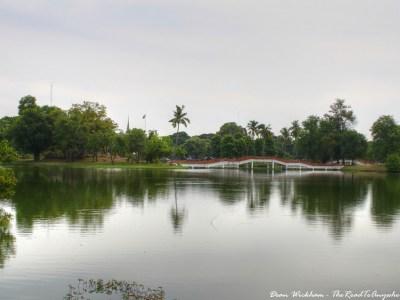 Tranquil Lake in Ayutthaya, Thailand