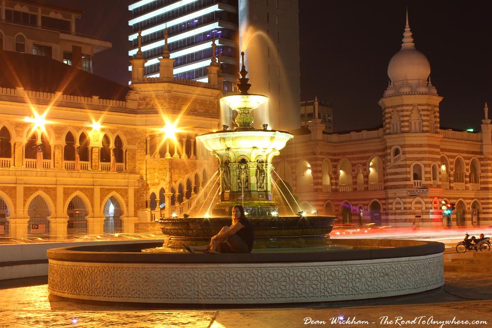 Fountain in Merdeka Square, Kuala Lumpur, Malaysia