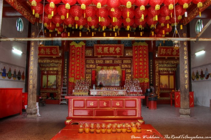 Shrine at the Goddess of Mercy Temple in George Town, Penang, Malaysia