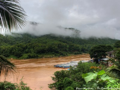 Mekong River View in Pakbeng, Laos