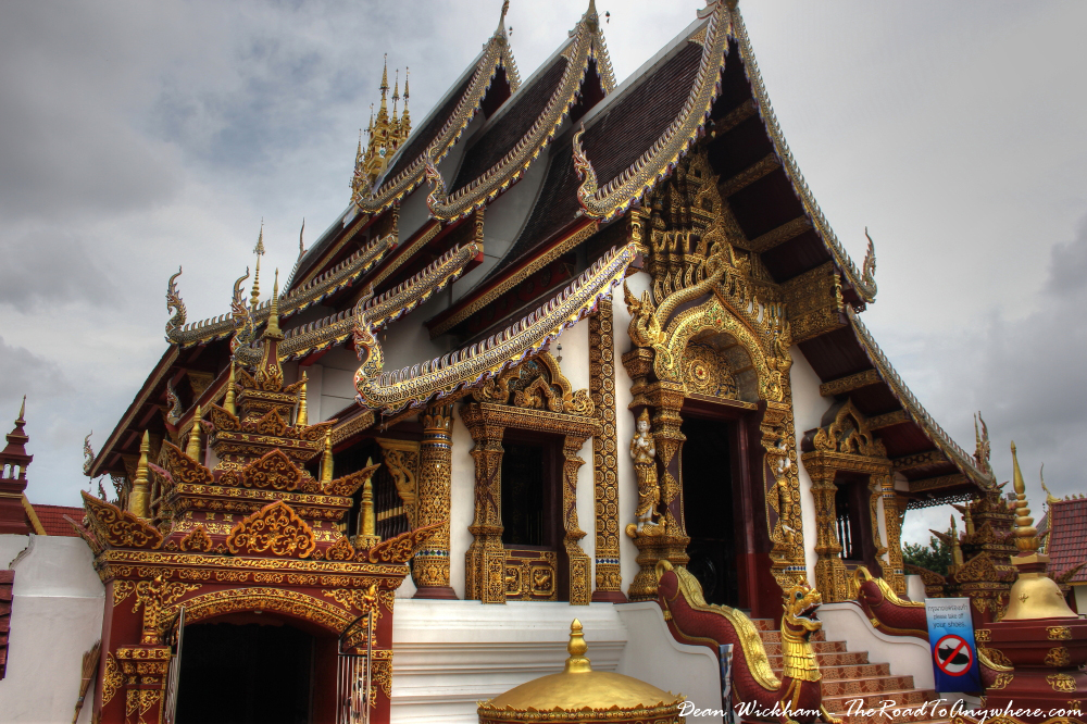 The viharn at Wat Monthian in Chiang Mai, Thailand