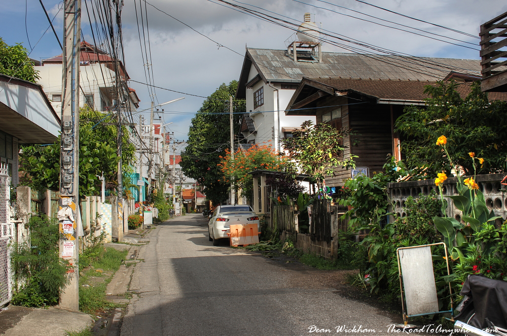 Quiet neighbourhood in Chiang Mai, Thailand