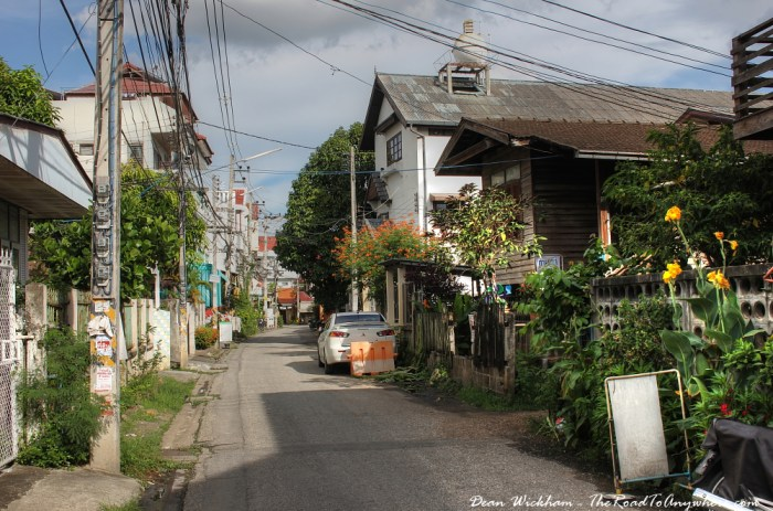 Old City street in Chiang Mai, Thailand