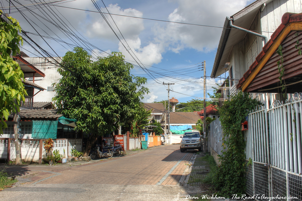Quiet backstreet in Chiang Mai, Thailand