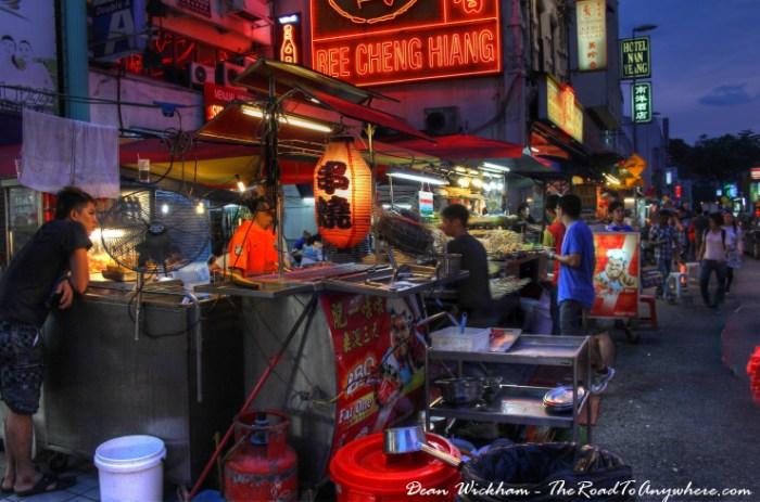 Hawker stalls in Chinatown, Kuala Lumpur