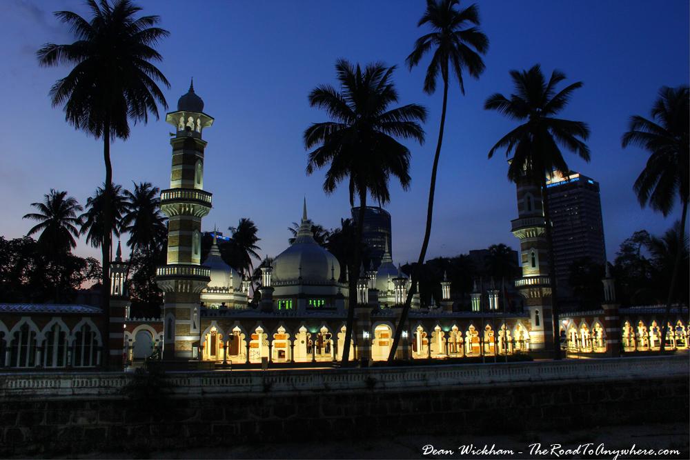 Masjid Jamek Mosque in Kuala Lumpur, Malaysia