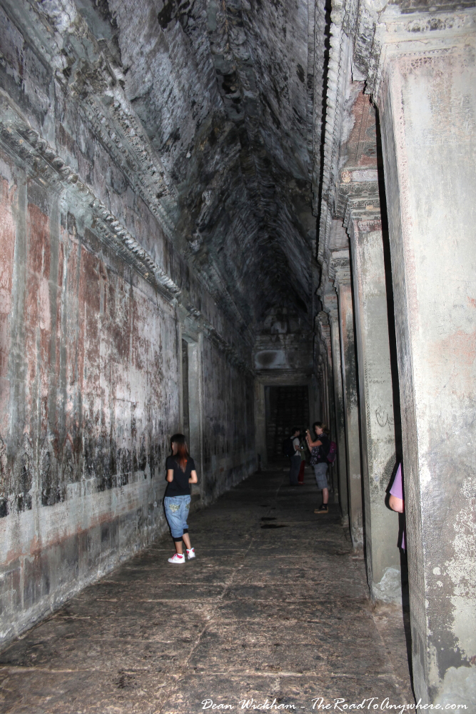 Ancient Hallway in Angkor Wat, Cambodia