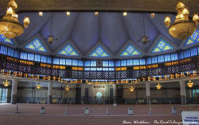 Prayer Hall inside Masjid Negara - National Mosque in Kuala Lumpur, Malaysia
