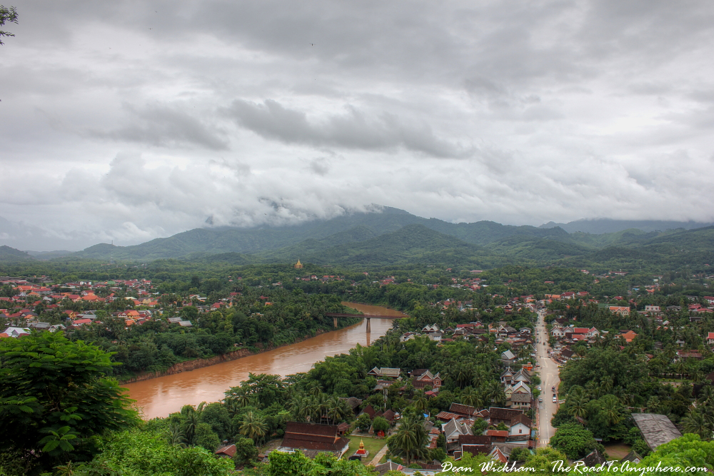 View of Luang Prabang from Phou Si, Laos
