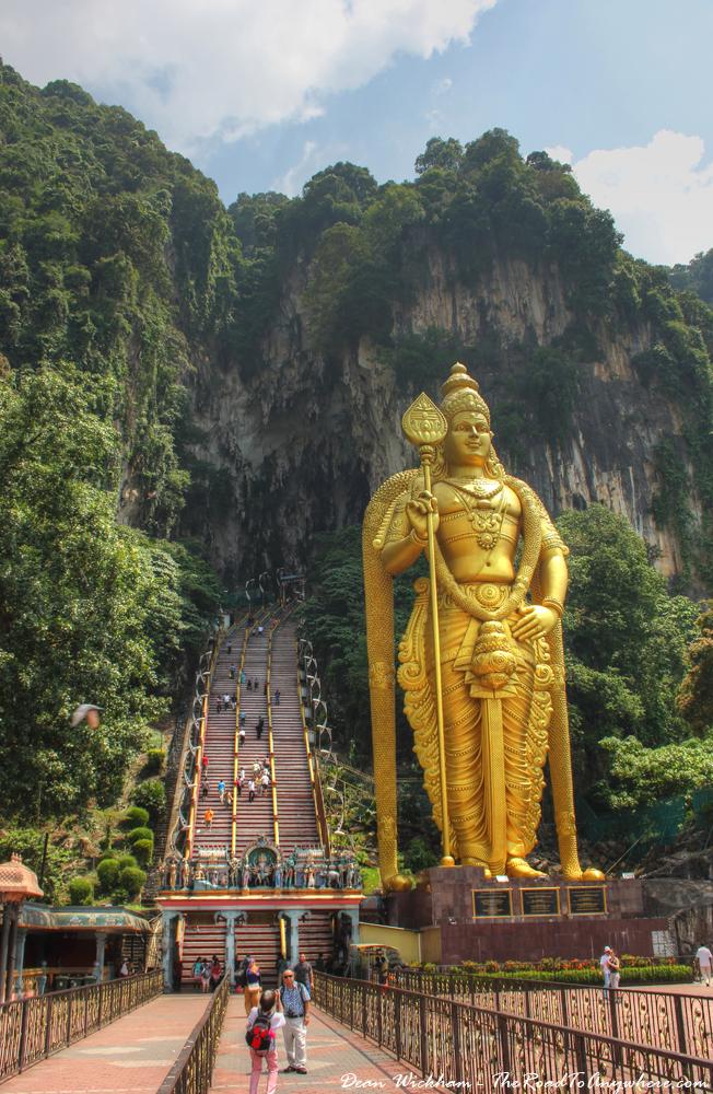 Lord Murugan Statue at Batu Caves in Kuala Lumpur, Malaysia