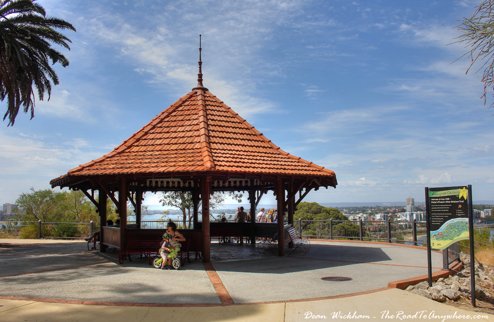 A gazebo in Kings Park in Perth, Western Australia