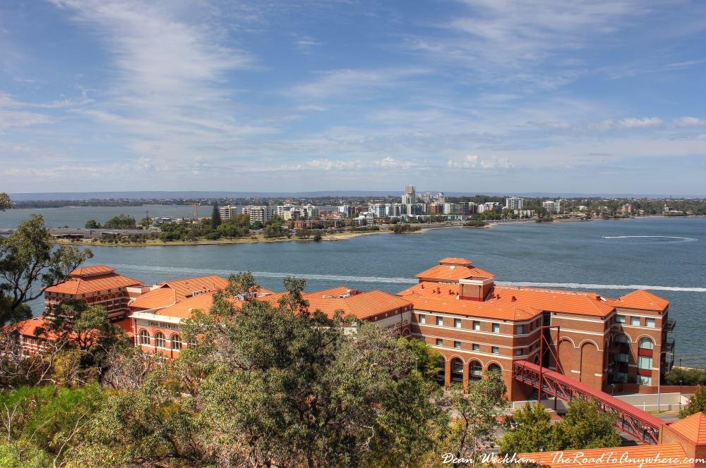 View of The Old Swan Brewery from Kings Park in Perth, Western Australia