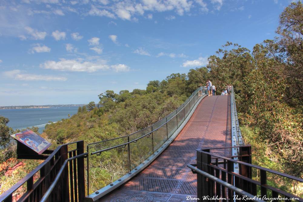 Bridge on the walkway in Kings Park in Perth, Western Australia
