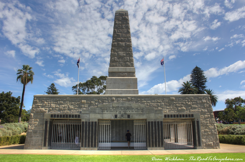 War Memorial in Kings Park in Perth, Western Australia