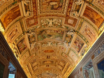 The Gallery of Maps in the Musei Vaticani in the Vatican City