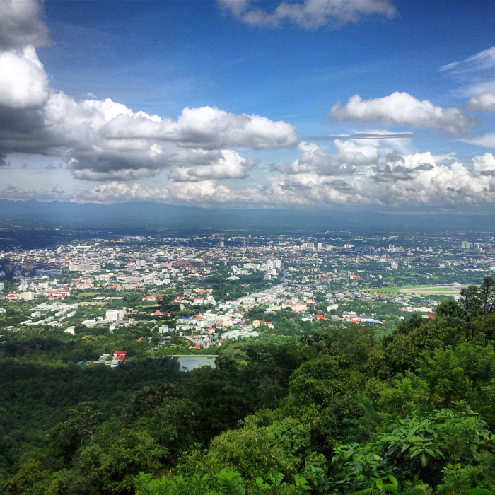 View of Chiang Mai from Doi Suthep in Chiang Mai, Thailand