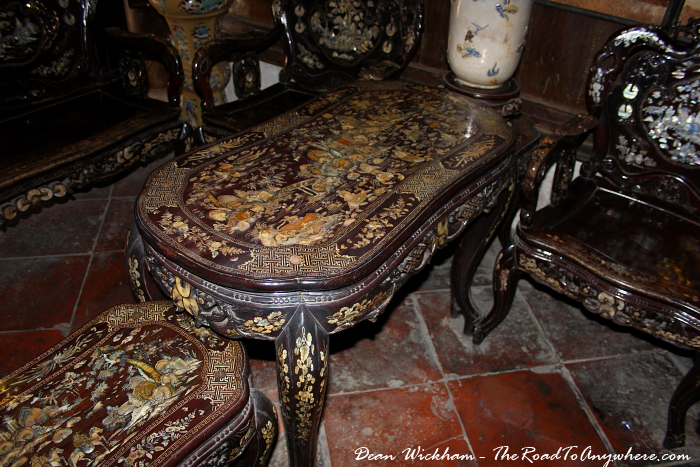 Furniture at Tan Ky House in Hoi An, Vietnam