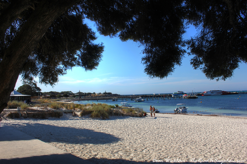 Beach view from Hotel Rottnest on Rottnest Island, Western Australia