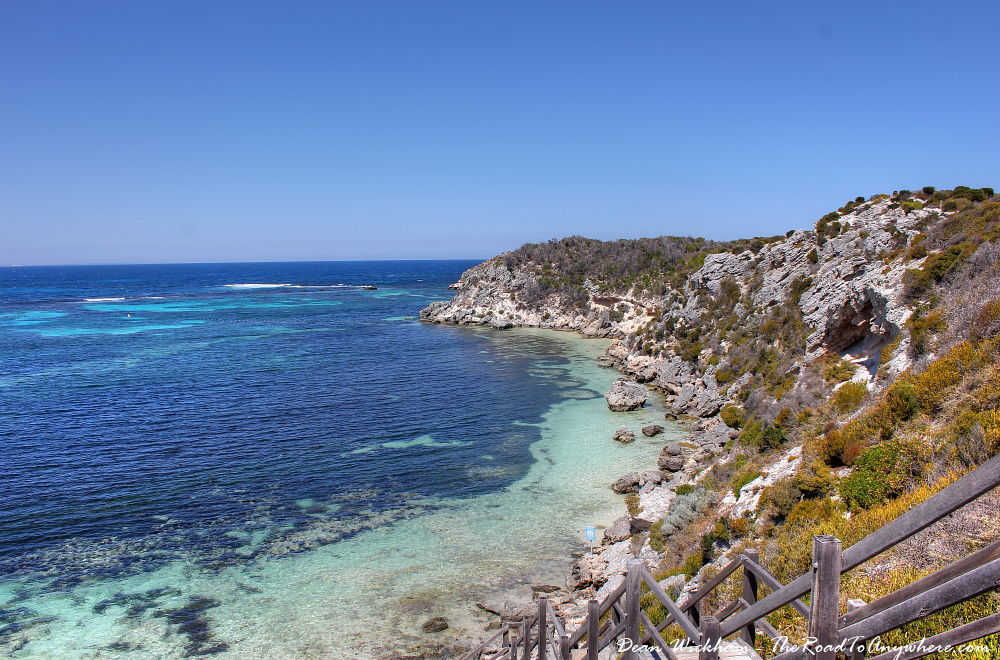 Rocky coastline at Henrietta Rocks on Rottnest Island, Western Australia
