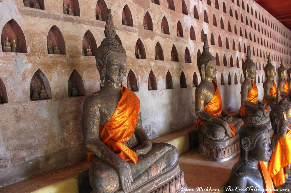 Buddha statues at Wat Si Saket in Vientiane, Laos