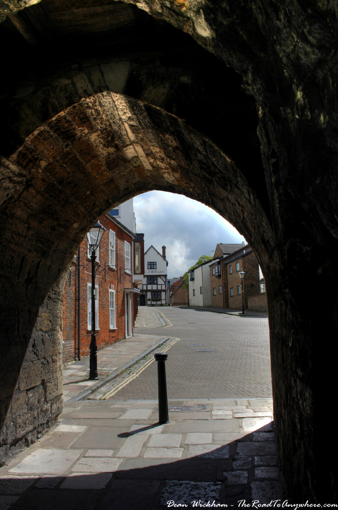 A gate in the medieval walls in Southampton, England