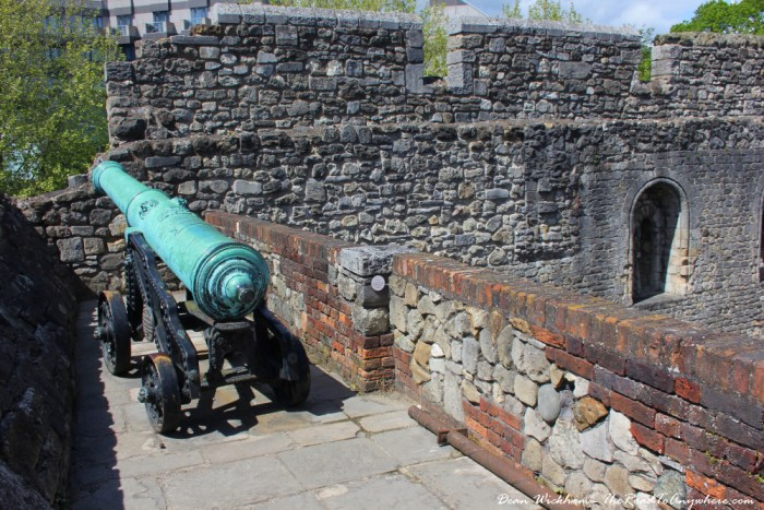 An old cannon in Southampton, England