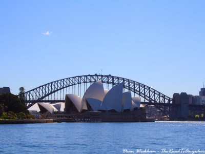 View of Sydney Opera House and the Harbour Bridge, Australia